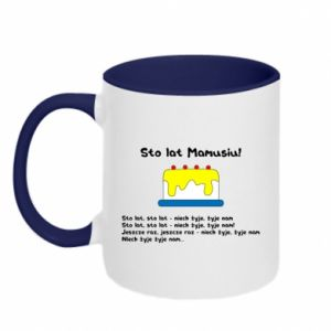 Two-toned mug Happy Birthday Mommy! - PrintSalon