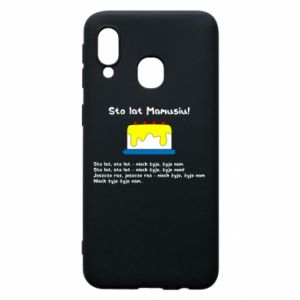 Phone case for Samsung A40 Happy Birthday Mommy! - PrintSalon