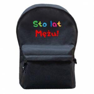 Backpack with front pocket Happy birthday, husband! - PrintSalon