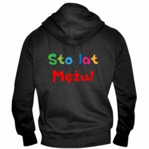 Men's zip up hoodie Happy birthday, husband! - PrintSalon