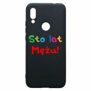 Phone case for Xiaomi Redmi 7 Happy birthday, husband! - PrintSalon