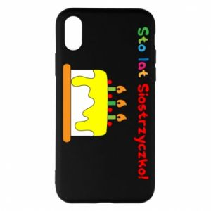 Phone case for iPhone X/Xs Happy birthday, sister! - PrintSalon