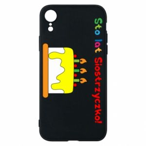 Phone case for iPhone XR Happy birthday, sister! - PrintSalon