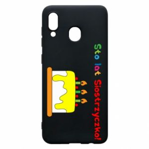 Phone case for Samsung A30 Happy birthday, sister! - PrintSalon