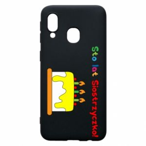 Phone case for Samsung A40 Happy birthday, sister! - PrintSalon