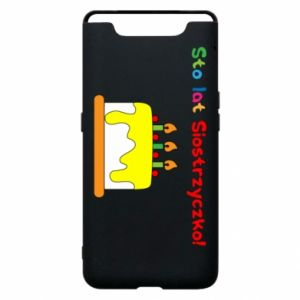 Phone case for Samsung A80 Happy birthday, sister! - PrintSalon