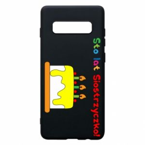 Phone case for Samsung S10+ Happy birthday, sister! - PrintSalon