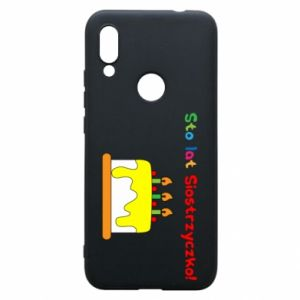 Phone case for Xiaomi Redmi 7 Happy birthday, sister! - PrintSalon