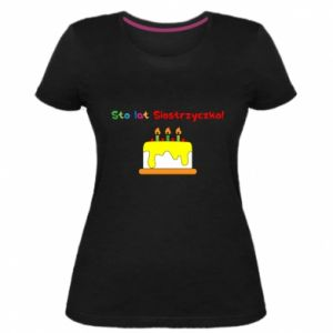Women's premium t-shirt Happy birthday, sister! - PrintSalon