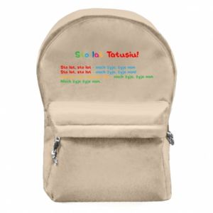 Backpack with front pocket Happy Birthday daddy! - PrintSalon