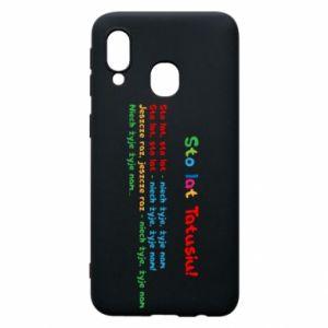 Phone case for Samsung A40 Happy Birthday daddy! - PrintSalon