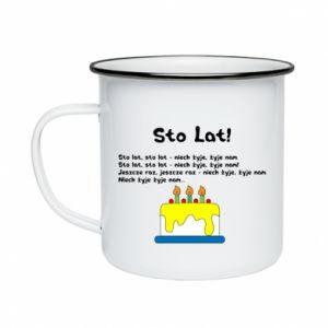 Enameled mug A hundred years! - PrintSalon