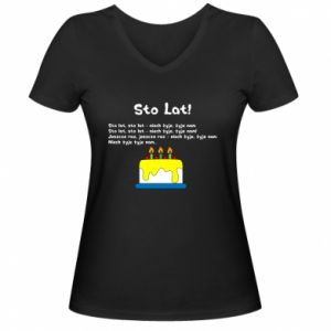 Women's V-neck t-shirt A hundred years! - PrintSalon