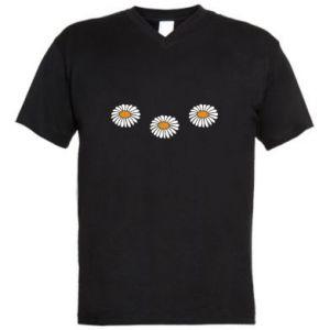 Męska koszulka V-neck Stokrotki