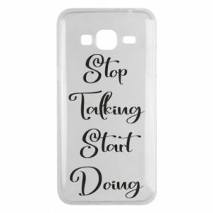 Etui na Samsung J3 2016 Stop talking start doing