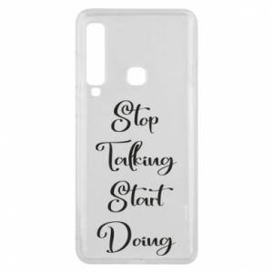 Etui na Samsung A9 2018 Stop talking start doing