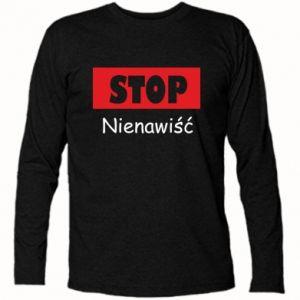 Koszulka z długim rękawem Stop. Nienawiść