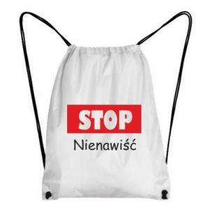 Plecak-worek Stop. Nienawiść