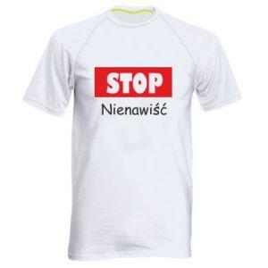 Męska koszulka sportowa Stop. Nienawiść