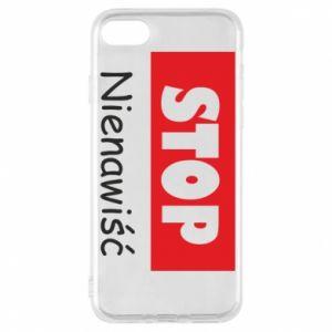Etui na iPhone 8 Stop. Nienawiść