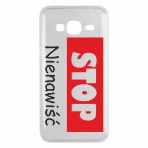 Etui na Samsung J3 2016 Stop. Nienawiść