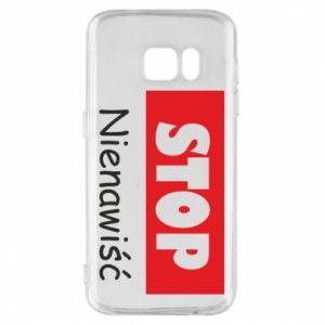 Etui na Samsung S7 Stop. Nienawiść