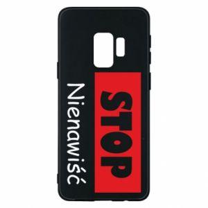Etui na Samsung S9 Stop. Nienawiść