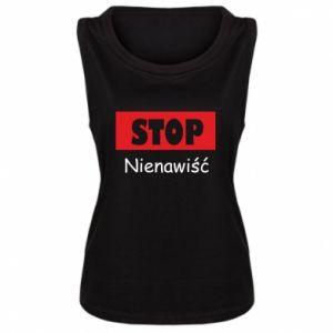 Damska koszulka bez rękawów Stop. Nienawiść