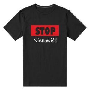 Męska premium koszulka Stop. Nienawiść