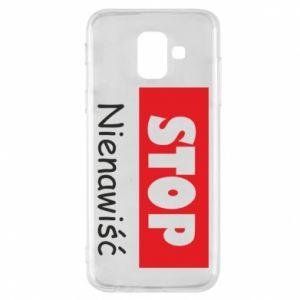 Etui na Samsung A6 2018 Stop. Nienawiść