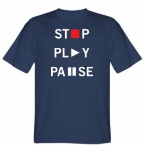 Koszulka Stop. Play. Pause.