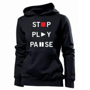 Damska bluza Stop. Play. Pause.