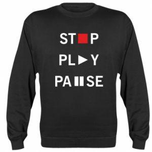 Bluza (raglan) Stop. Play. Pause.