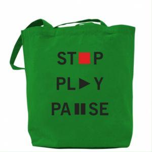 Torba Stop. Play. Pause.