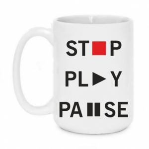 Kubek 450ml Stop. Play. Pause.
