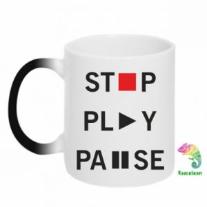 Kubek-kameleon Stop. Play. Pause.