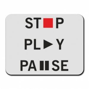Podkładka pod mysz Stop. Play. Pause.