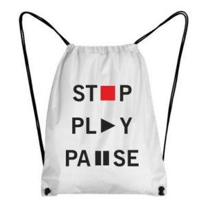 Plecak-worek Stop. Play. Pause.