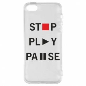 Etui na iPhone 5/5S/SE Stop. Play. Pause.