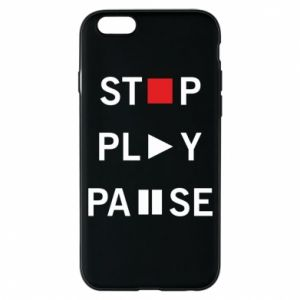 Etui na iPhone 6/6S Stop. Play. Pause.