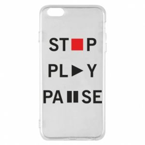 Etui na iPhone 6 Plus/6S Plus Stop. Play. Pause.