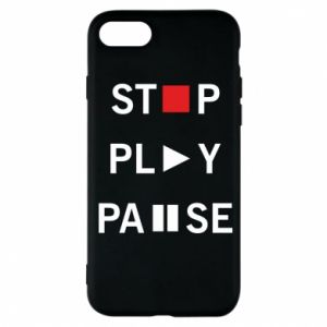 Etui na iPhone 7 Stop. Play. Pause.