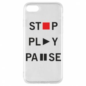 Etui na iPhone 8 Stop. Play. Pause.