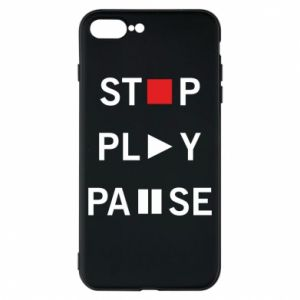 Etui na iPhone 8 Plus Stop. Play. Pause.