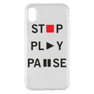 Etui na iPhone X/Xs Stop. Play. Pause.