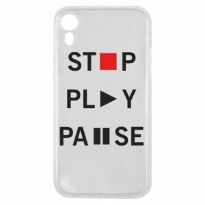 Etui na iPhone XR Stop. Play. Pause.