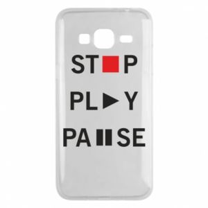 Etui na Samsung J3 2016 Stop. Play. Pause.