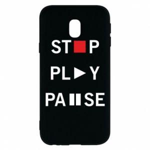 Etui na Samsung J3 2017 Stop. Play. Pause.