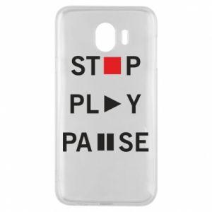 Etui na Samsung J4 Stop. Play. Pause.