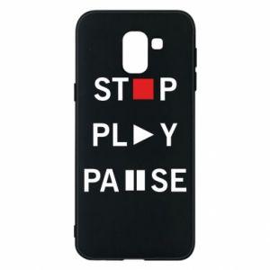 Etui na Samsung J6 Stop. Play. Pause.
